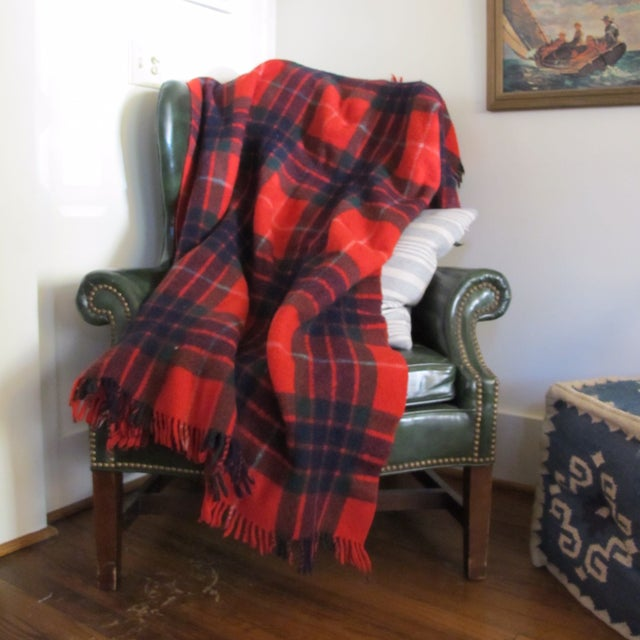 Classic Plaid Wool Blanket - Image 5 of 5