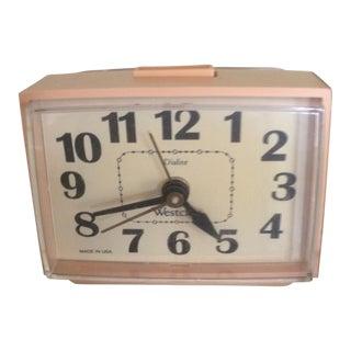 Vintage Westclox Dialite Alarm Clock