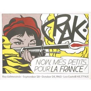 """1963 Roy Lichtenstein """"Crak!"""" Poster"""