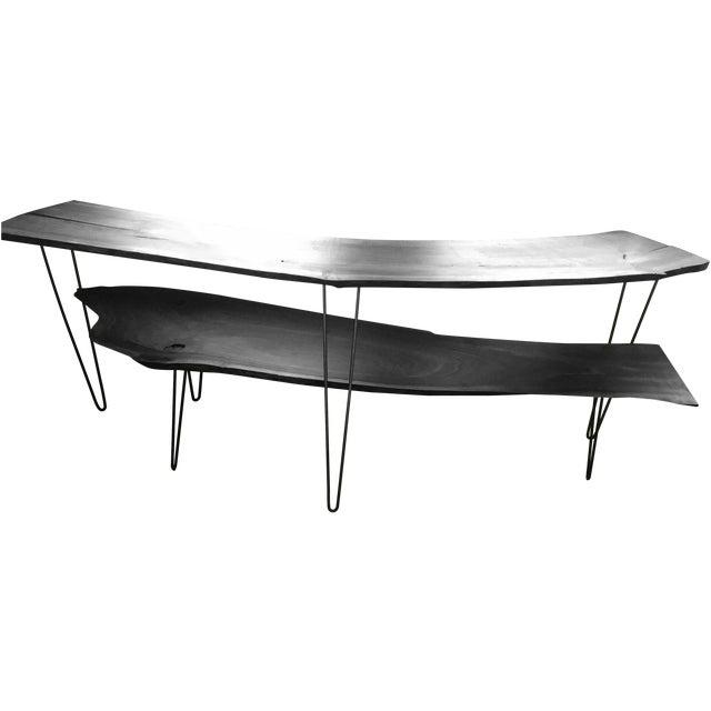 Black Walnut Live Edge Coffee Table, Hairpin Legs - Image 2 of 12