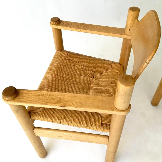Italian Rush Seat Armchairs - Pair - Image 6 of 6