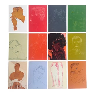 "Andy Warhol Vintage ""Men"" Pop Art Collector Postcard Prints - Set of 12"