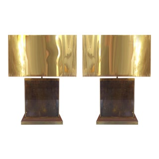 Curtis Jere Brass Table Lamps - A Pair