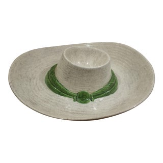 Ceramic Sombrero Chip & Dip Dish