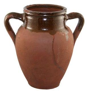Rug & Relic Vintage Brown Glaze Earthenware Vase