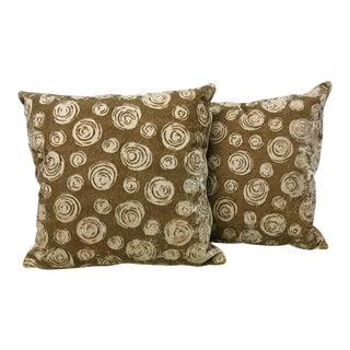 Brunschwig & Fils Circlets Velvet Pillows - a Pair