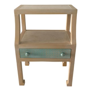 Transitional Beige Side Table