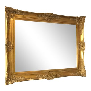 Gilt Ornamental Plaster Framed Mirror