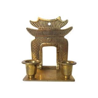 Brass Pagoda Candle Holder
