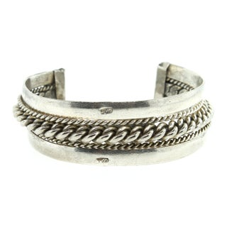 Silver Cuff with Braided Detail