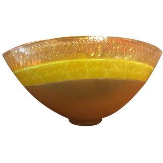 Murano Yellow Art Glass Bowl