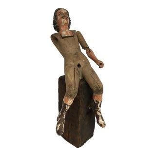 Hand Carved Wood Colonial Figure
