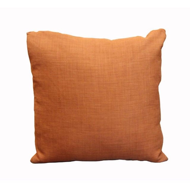 Rust Orange Linen Throw Pillows - A Pair Chairish