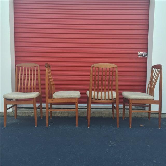 Danish Modern Style Teak Dining Chairs - Set of 6 - Image 6 of 11