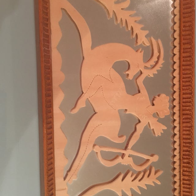 Vintage Art Deco Hand Carved Tray - Image 4 of 7