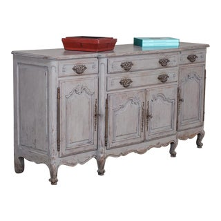 Antique French Painted Louis XV Style Buffet Credenza circa 1910