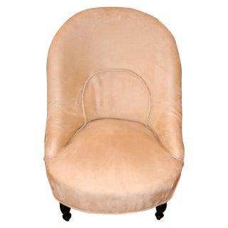 French Napoleon III Period Slipper Chair