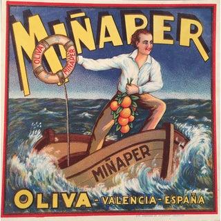 Spanish Sailor Orange Crate Label