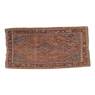 """Antique Distressed Qashqai Carpet - 5' X 9'11"""""""
