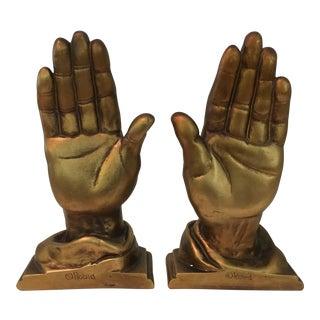Mid-Century Roman Art Co. Robia Porcelain Hands - A Pair