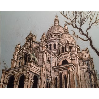 Sacre Coeur Watercolor & Acrylic Painting
