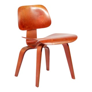 Eames Red Aniline DCW by Herman Miller