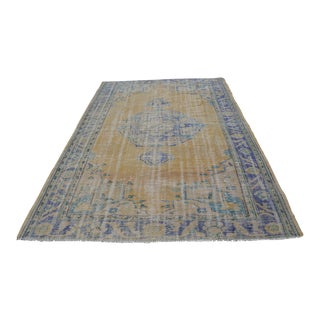 Antique Turkish Oushak Handwoven Carpet - 6′5″ × 9′6″