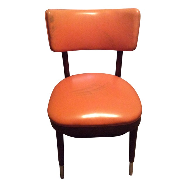 Shelby Williams Vintage Retro Orange Side Chair Chairish
