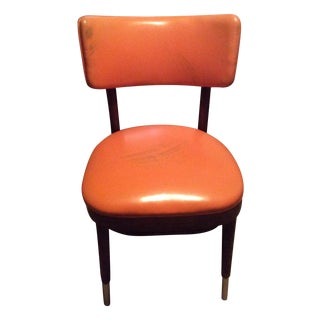 Shelby Williams Vintage Retro Orange Side Chair