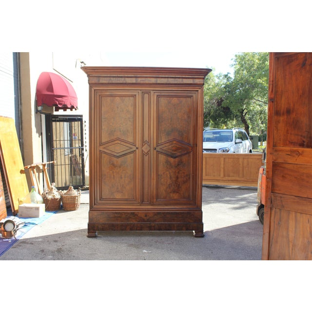 19th Century French Louis Philippe Walnut Armoire Period Chateau Circa 1850s - Image 2 of 11