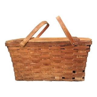 1940's Vintage Rustic Jerywil Picnic Basket