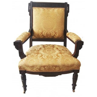 American Victorian Carved Wood Chair