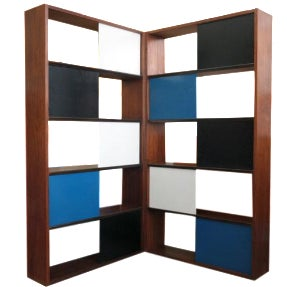 Evans Clark Color Block Bookcase
