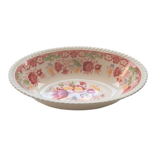 Johnson Brothers Winchester Pink Transfer Ware Serving Bowl