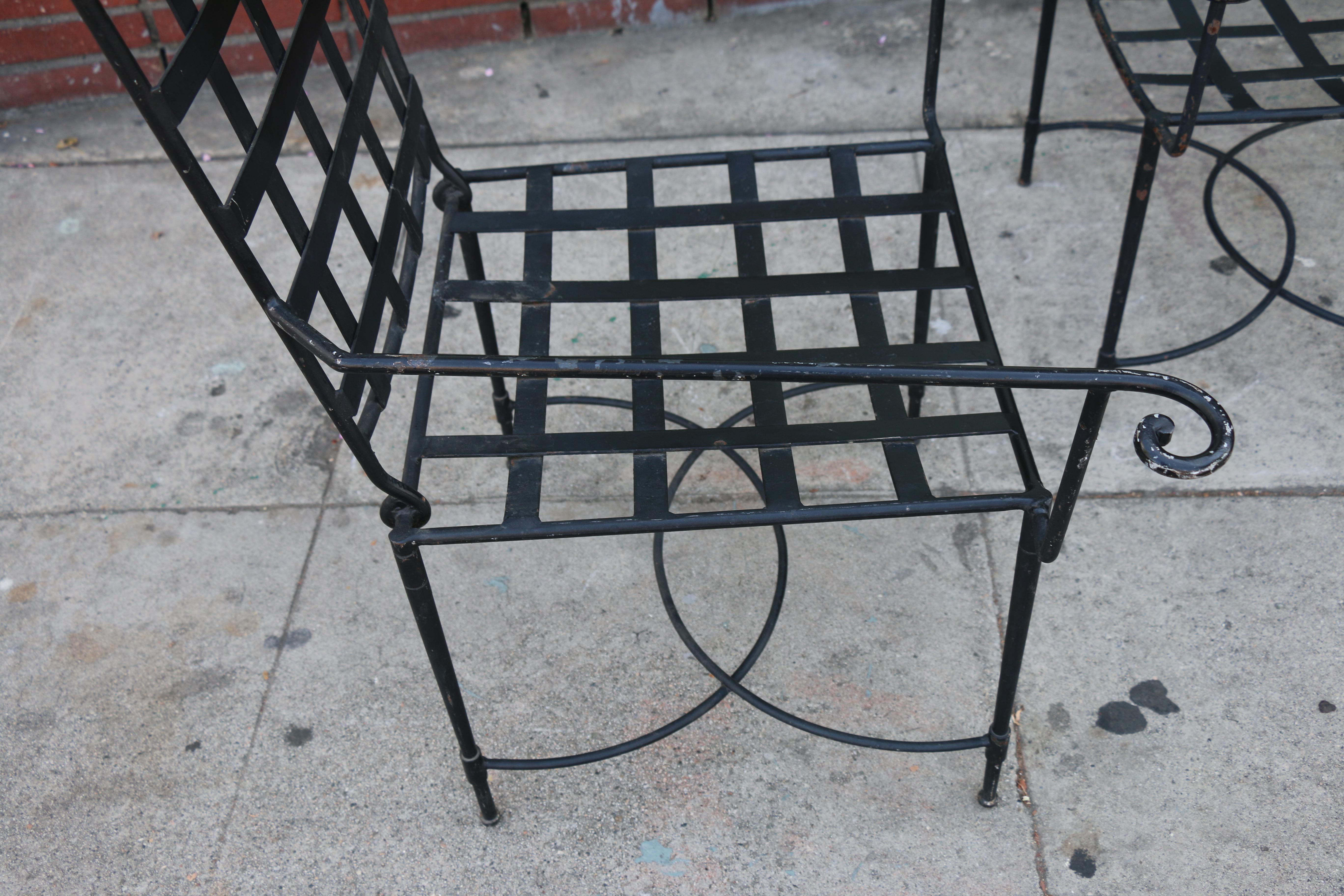 Vintage Salterini Patio Chairs a Pair
