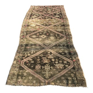 "Vintage Turkish Oushak Runner - 3'8"" x 8'6"""