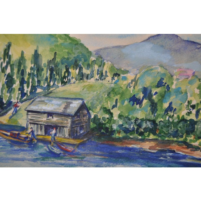 Orignal Watercolor by Frances Wells C.1950's - Image 3 of 8