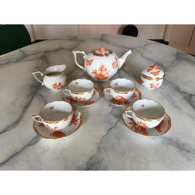 Herend Fortuna Pattern Tea Set - Set of 7 - Image 7 of 11