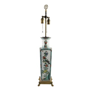 Porcelaine De Paris Chinoiserie Table Lamp