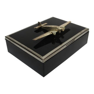 German Art Deco Airplane Cigarette Box
