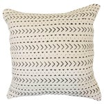 "Image of Mod White and Black Mud Cloth Pillow 18"" X 18"""