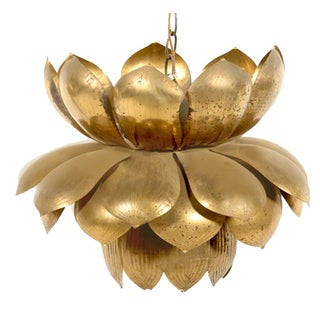 Feldman Large Brass Lotus Pendant