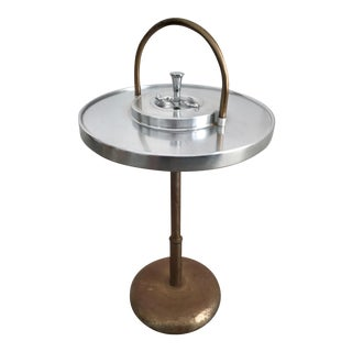 Deco Style Metal Freestanding Ashtray