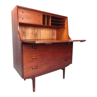 Scandinavian Modern Drop-Leaf Teak Secretary