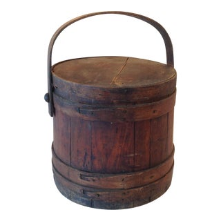 Antique Wood Firkin Bucket