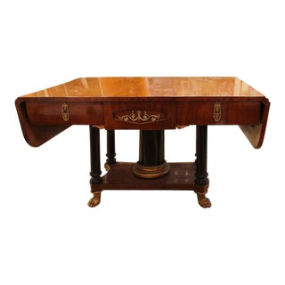 Traditional Biedermeier Drop Leaf Table