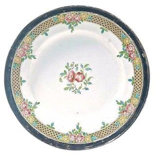Antique Royal Worcester Sterling Rimmed Plate