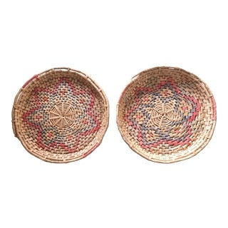 Woven Seagrass Wall Baskets - A Pair