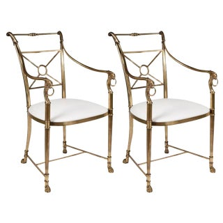 La Barge Regency Armchairs - a Pair