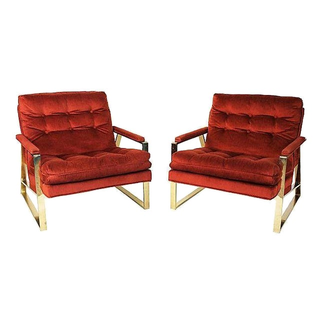 Mid-Century Lounge Chairs - A Pair - Image 1 of 9
